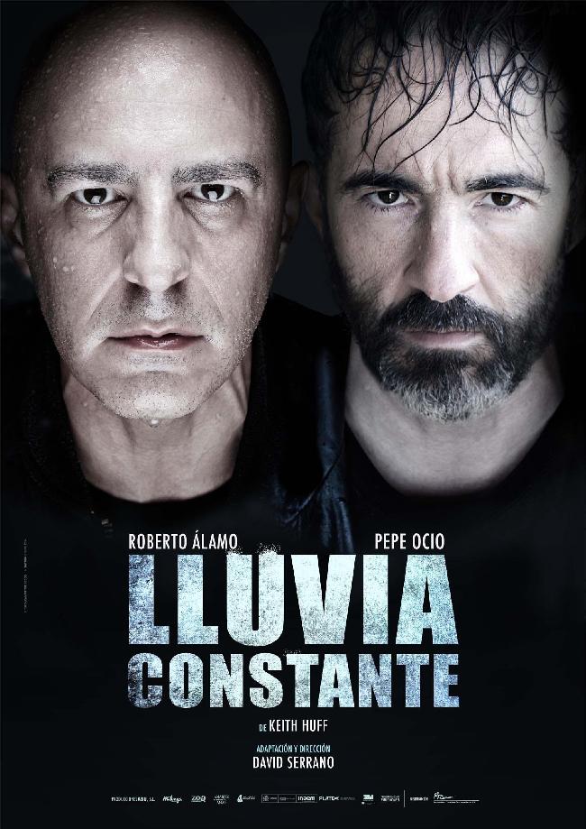 Cartel de la obra de teatro Lluvia Constante en el teatro bellas artes de madrid