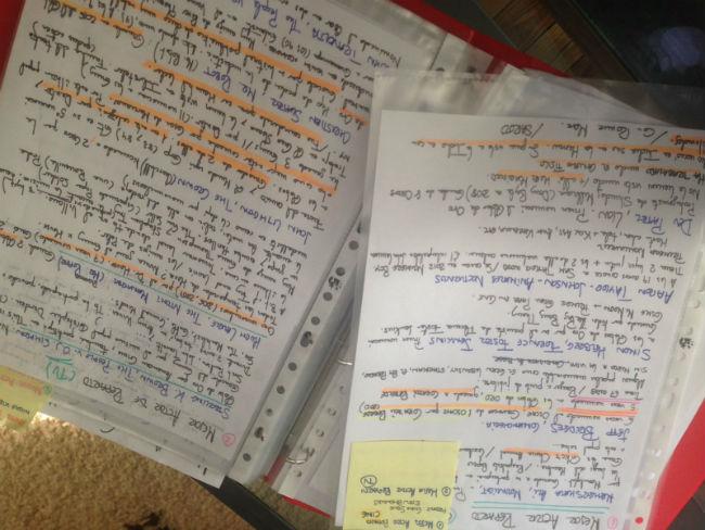 Las notas manuscritas sobre los Globos de Oro de Raquel Sánchez Silva