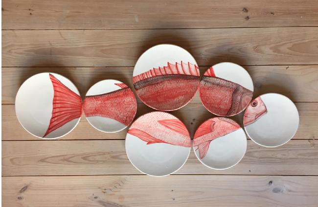 Plato decorativo diseñado por Nuria Blanco