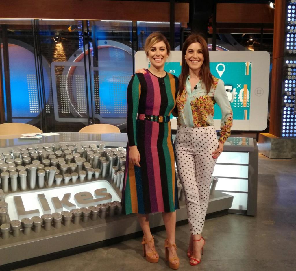 Raquel Sánchez Silva, con Blanca Suárez en 'El bar'