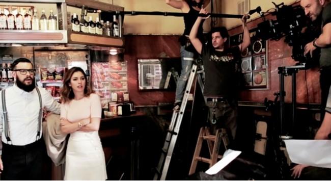 Foto del rodaje de El Bar