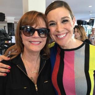 Raquel Sánchez Silva, con Susan Sarandon